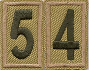Pack 54 numerals