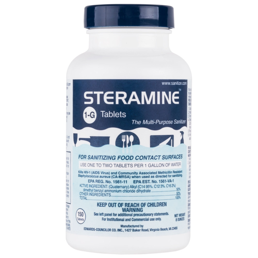 Steramine tablets bottle